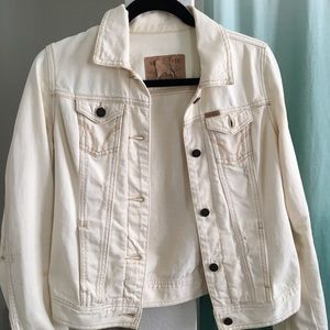 Hollister distressed / destroyed jean jacket